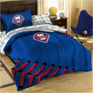 MLB PHILADELPHIA PHILLIES Baseball TWIN FULL BEDDING SET   Laces