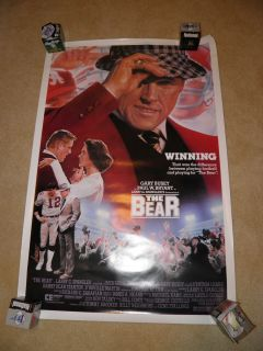 The Bear Bear Bryant Movie Poster Alabama Football Gary Busey