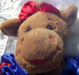 Build A Bear Workshop Cow Plush Snow White Outfit Bow