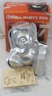 Wilton 3D Panda Bear Cake Pan Aluminum Mold 502 518 Directions Box