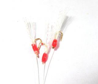 OT High Quality Sabiki Mini Bait Rig Red Crystal Flash Size 10