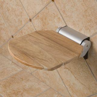 Solid Teak Wood Folding Shower Seat Unfinished Teak