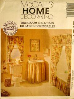Pattern Bathroom Shower Tub Curtains Sink Toilet Window