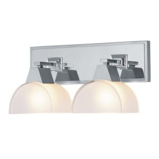 NEW 2 Light Bathroom Vanity Lighting Fixture, Brushed Nickel Chrome