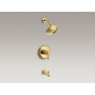 Kohler K T395 4 PB Tub Shower Faucet Trim Kit Brass
