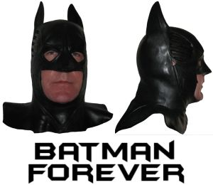 Batman   Mask   Batman Forever Adult Full Latex Rubber Cowl Val Kilmer