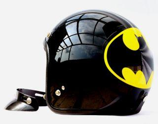 Batman Open Face Chopper Dot Motorcycle Helmet s M L