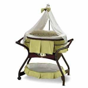 Fisher Price Zen Gliding Baby Bassinet Light Green Color