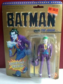 BATMAN THE JOKER WITH SQUIRTING ORCHID ACTION FIGURE 1989 TOY BIZ