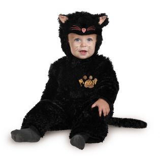 Infant Black Cat Costume Halloween Toddler Baby Animal Cute Kitty