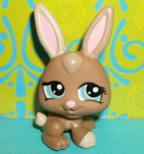 Littlest Pet Shop~#1332 COCOA BROWN BABY BUNNY RABBIT PETRIPLETS~C103