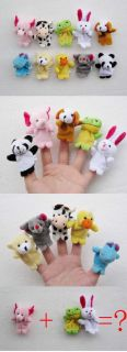 Finger Puppet Kids Finger Toys Plush Toys for Baby Girl Boy