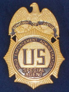 DEA Special Agent Badge US Federal police badge Polizeimarke