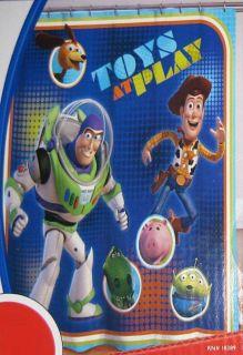 Pixar Toy Story Shower Curtain Fabric Buzz Lightyear Woody Kids