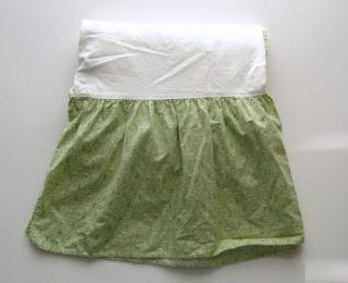 crib dust ruffle carter s baby boy girl cotton euc