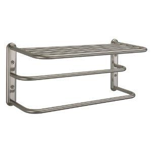 Bathroom Shelves Shelf 2 Towel Rack Hanger Wall Mount Bath Storage
