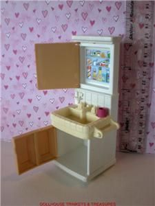 Fisher Price Loving Family Dollhouse Tan Bathroom Vanity