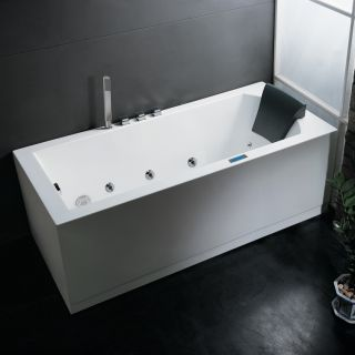 Ariel Bath AM154 Platinum Whirlpool Freestanding Tub White