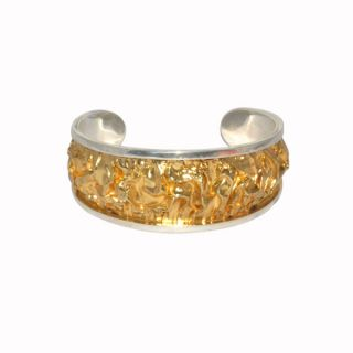 925 Sterling Silver Gold Filled Bangle Handmade Designer Jewelry Free