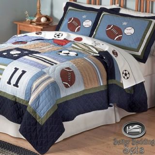 Sport Football Quilt Theme Bedding Set for Twin Full Queen Size