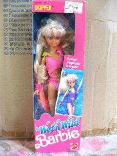 Wet N Wild Skipper Barbie Doll Swimsuit Change Color 1989 Mattel