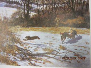 Beecham rabbit /beagle hunting picture titled sound of hounds