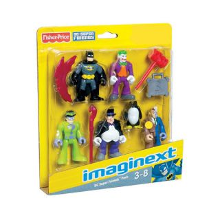 Imaginext DC Batman Figures Toy Set Joker Two Face Penguin Riddler