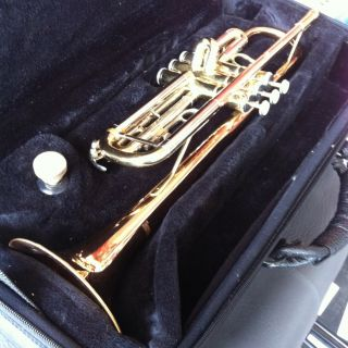 Barrington Trumpet 245003 Gold Silver and Copper Colored with Case