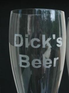 Personalized Giant Beer Glass Your Name Etched Custom Print Anything