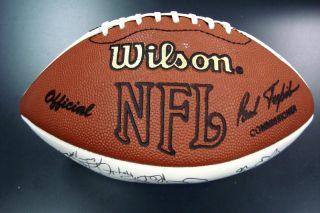 1995 Dallas Cowboys Team Signed Football Super Bowl XXX Champs