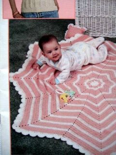 12 BEGINNER CROCHET PATTERNS Star Baby Afghan Sweaters Slippers