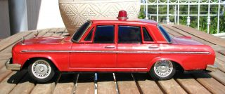 VINTAGE 1965 TOYOTA CROWN BATTERY OPERATED TIN TOY POLICE CAR BY