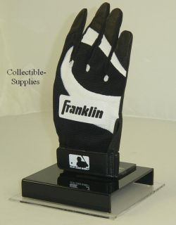New Baseball Batting Glove Display Case Holder w Mirror