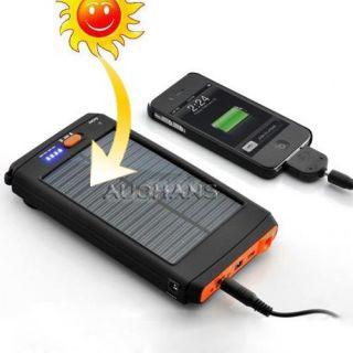 12V Mobile Portable Solar Power Panel Charger Battery for Phone Laptop