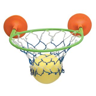 INCH BATH TUB SUCKERED BASKETBALL NET / HOOP TOY WITH SPONGE BALL