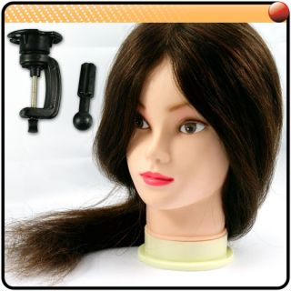 Training Head 100 Human Real Hair 18 Long Hairdressing Salon