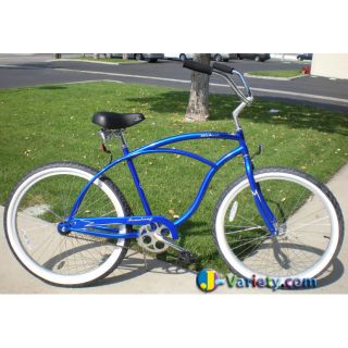 Beach Cruiser Bike Firmstrong URBAN 26 Mens ROYAL BLUE Bicycle w Alloy