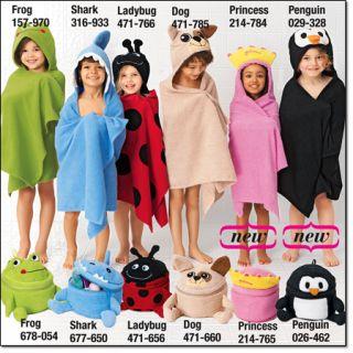 Girls Hooded Bath Towel Beach Towel Princess with Crown Towel