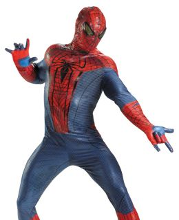 Spider Man Movie Deluxe Cosplay Adult Halloween Fancy Dress Costume