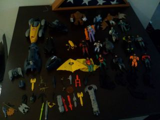 Batman Animated Series Lot 21 Action Figures and Vehicles Loose Kenner