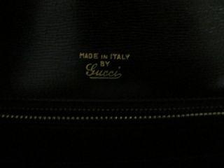 Authentic Vintage Designer GUCCI Black Crocodile Purse Bag A