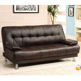 beaumont dark brown finish futon set