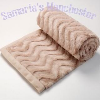 Baxter Caramel Faux Fur Throw Rug Blanket 130x220cm
