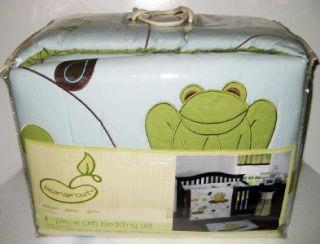 NEW BEANSPROUT HOPPER FROG CRIB BEDDING SET Toddler Comforter Bumper