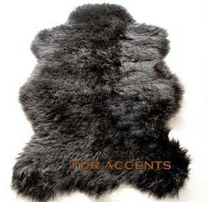 BEAR SHEEPSKIN AREA RUG FAUX FUR ACCENT FAKE THROW PELT AREA RUGS