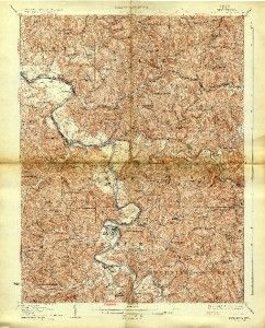 166 Vintage USGS Topo Maps of West Virginia JPGS on DVD