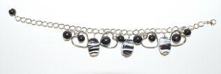 Glass Bead Bracelet Silver Charm Dangle Bracelets 18 Styles