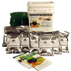 Organic Emergency Food Storage Sprouting Kit 10 lbs Assorted Seeds