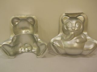 Wilton Teddy Bear Cake Pan 3D 502 501 No Clips Included Birthday Panda