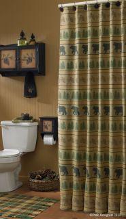 Shower Curtain Bear Tracks Park Designs Bathroom Decor